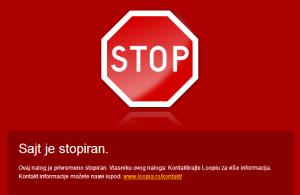 sajt je stopiran